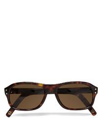 Мужские темно-коричневые солнцезащитные очки