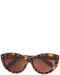 Женские темно-коричневые солнцезащитные очки от Alexander McQueen