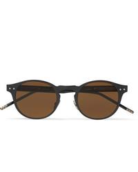 Мужские темно-коричневые солнцезащитные очки от Bottega Veneta