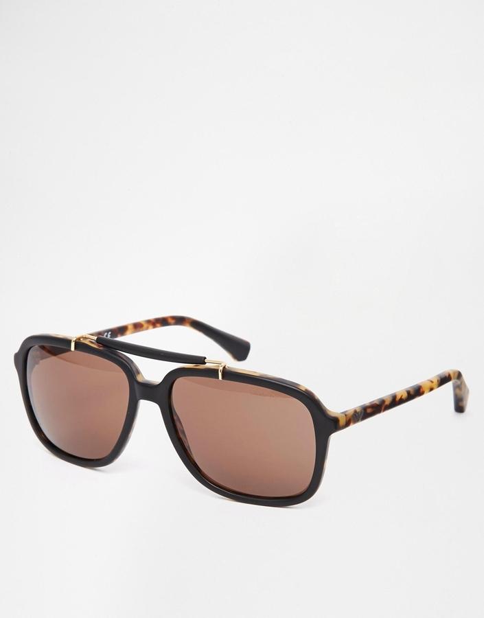 b4429da958c3 Мужские темно-коричневые солнцезащитные очки от Emporio Armani   Где ...