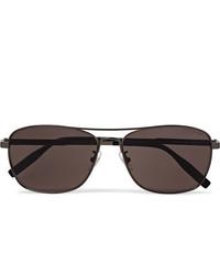 Мужские темно-коричневые солнцезащитные очки от Montblanc
