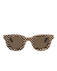 Мужские темно-коричневые солнцезащитные очки от Rhude