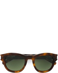 Женские темно-коричневые солнцезащитные очки от Saint Laurent