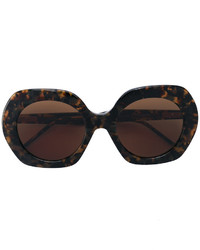 Женские темно-коричневые солнцезащитные очки от Thom Browne