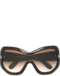 Женские темно-коричневые солнцезащитные очки от Tom Ford