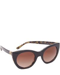 Женские темно-коричневые солнцезащитные очки от Tory Burch