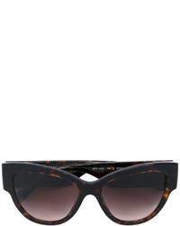 Женские темно-коричневые солнцезащитные очки от Versace