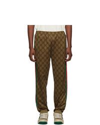 Мужские темно-коричневые спортивные штаны от Gucci