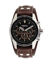 Мужские темно-коричневые часы от Fossil