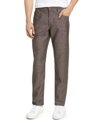 Темно-коричневые шерстяные брюки чинос