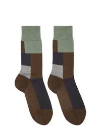 Мужские темно-коричневые шерстяные носки от GR-Uniforma
