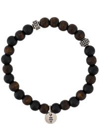 Мужской темно-коричневый браслет из бисера от Eleventy