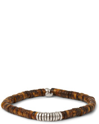 Мужской темно-коричневый браслет из бисера от Tateossian
