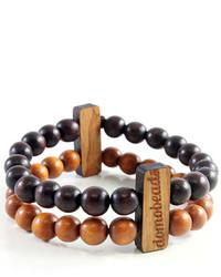 Темно-коричневый браслет
