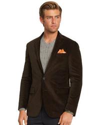 Темно-коричневый вельветовый пиджак