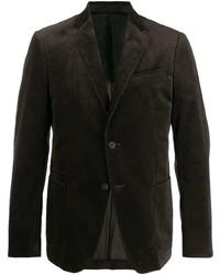 Мужской темно-коричневый вельветовый пиджак от Z Zegna