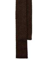 Темно-коричневый вязаный галстук