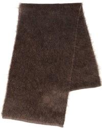 Темно-коричневый вязаный шарф