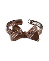 Темно-коричневый галстук-бабочка в шотландскую клетку
