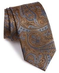 """Темно-коричневый галстук с """"огурцами"""""""