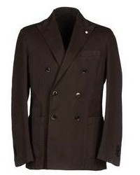 Темно-коричневый двубортный пиджак