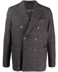 Мужской темно-коричневый двубортный пиджак от Circolo 1901