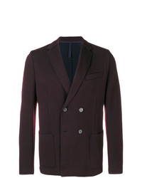 Мужской темно-коричневый двубортный пиджак от Harris Wharf London