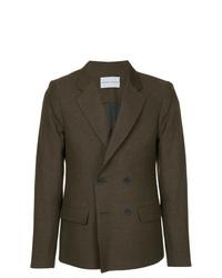 Мужской темно-коричневый двубортный пиджак от Strateas Carlucci