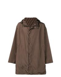 Темно-коричневый дождевик