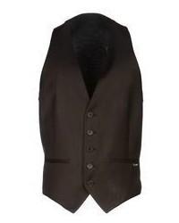 Темно-коричневый жилет