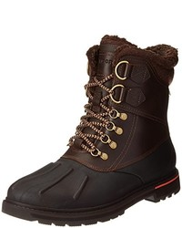 Темно-коричневый зимние ботинки