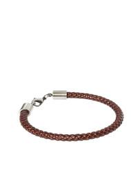 Мужской темно-коричневый кожаный браслет от Simon Carter
