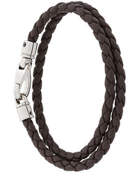 Мужской темно-коричневый кожаный браслет от Tod's
