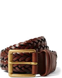 Мужской темно-коричневый кожаный плетеный ремень от Andersons