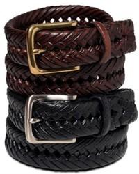 Мужской темно-коричневый кожаный плетеный ремень от Tommy Hilfiger