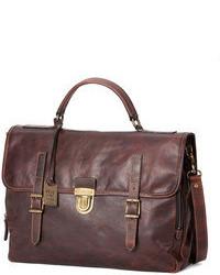 Темно-коричневый кожаный портфель