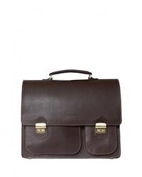 Темно-коричневый кожаный портфель от Carlo Gattini
