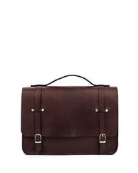 Темно-коричневый кожаный портфель от Long River