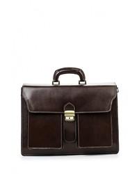 Темно-коричневый кожаный портфель от Roberta Rossi