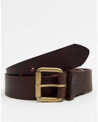 Мужской темно-коричневый кожаный ремень от Barbour