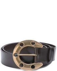 Мужской темно-коричневый кожаный ремень от Dolce & Gabbana
