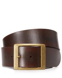 Женский темно-коричневый кожаный ремень от Frame