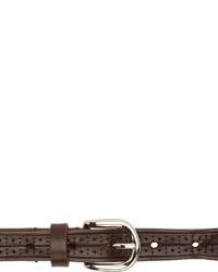 Женский темно-коричневый кожаный ремень от Isabel Marant
