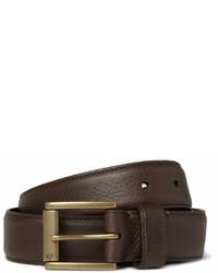Мужской темно-коричневый кожаный ремень от Mulberry