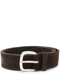 Мужской темно-коричневый кожаный ремень от Orciani