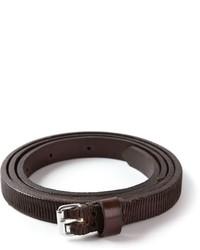 Женский темно-коричневый кожаный ремень от Sofie D'hoore