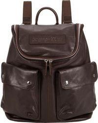 Темно-коричневый кожаный рюкзак