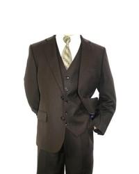 Темно-коричневый костюм-тройка