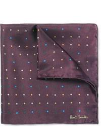 Темно-коричневый нагрудный платок в горошек от Paul Smith