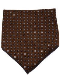 Темно-коричневый нагрудный платок с принтом от Brunello Cucinelli